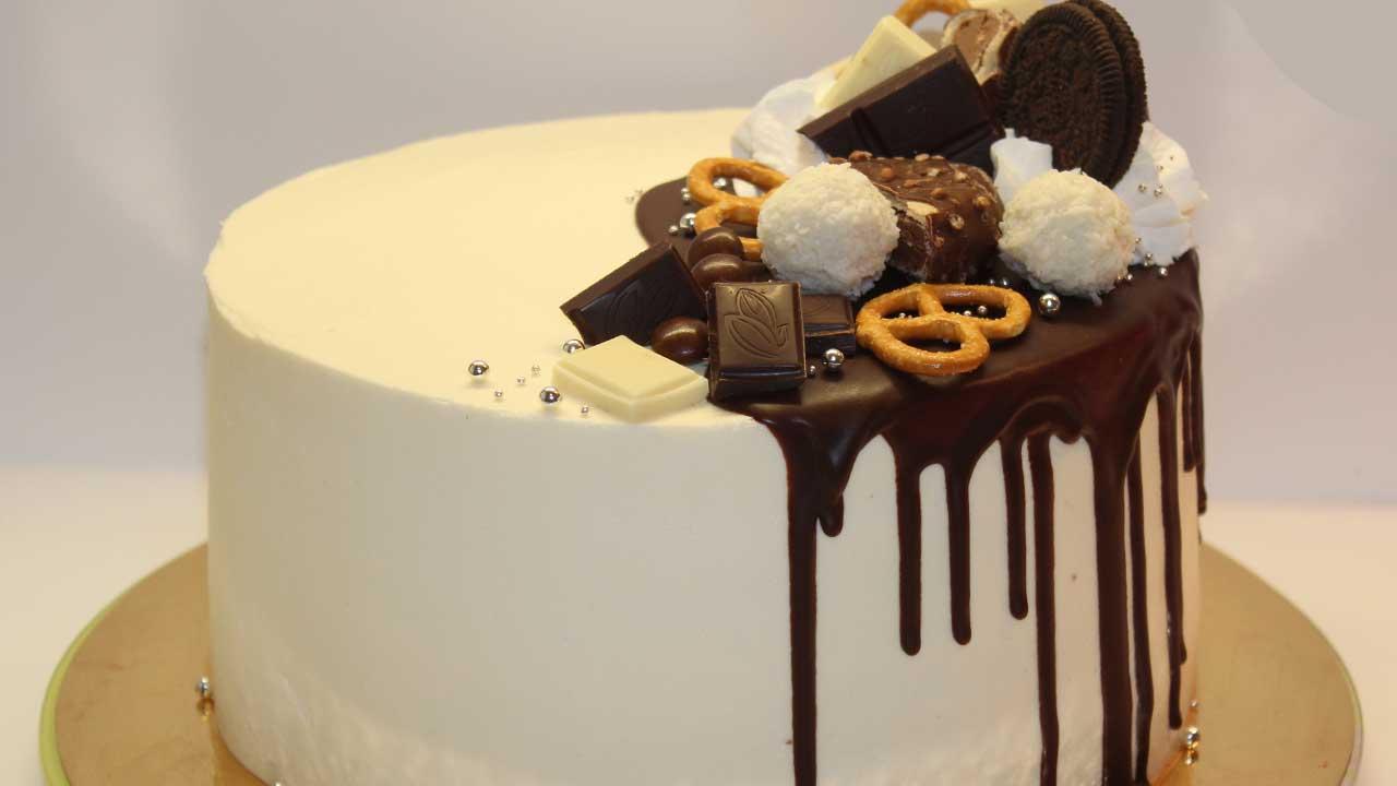 Торт белый