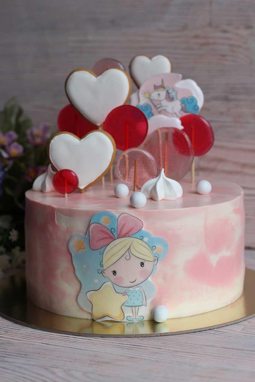Тортик розовый