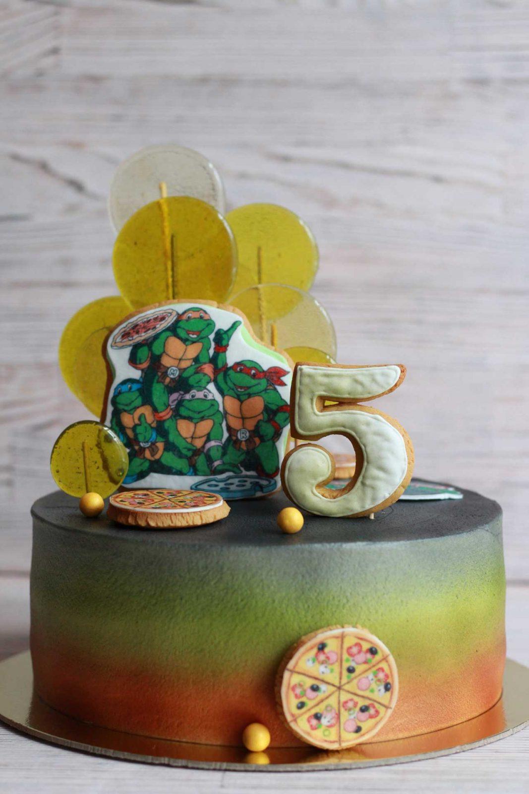 Торт с черепашками ниндзя