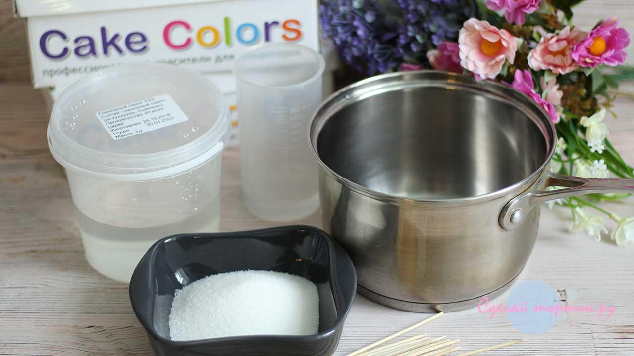 Ингредиенты для леденцов из глюкозного сиропа