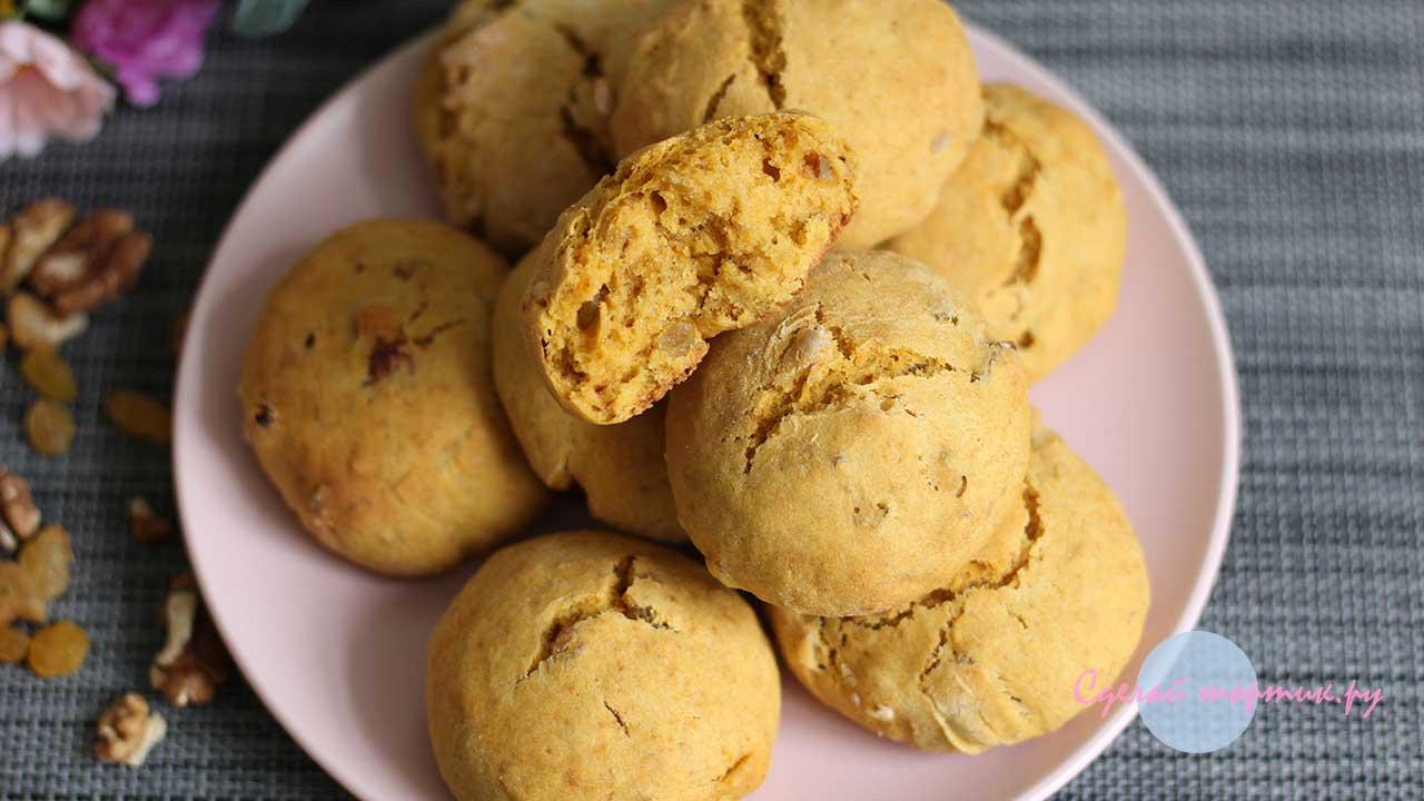Постное тыквенное печенье готово