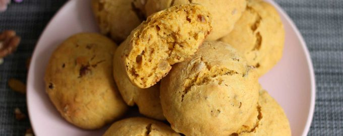 Постное тыквенное печенье