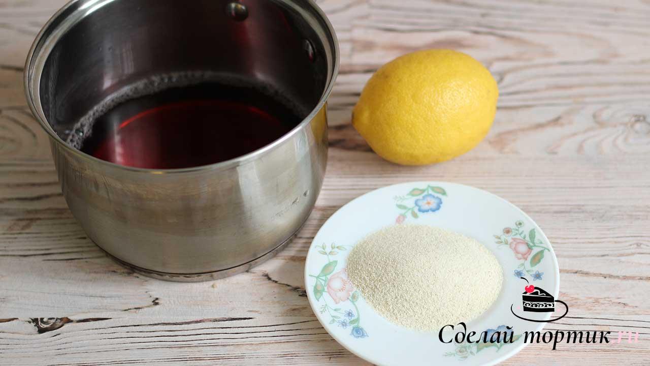 Ингредиенты для манного крема
