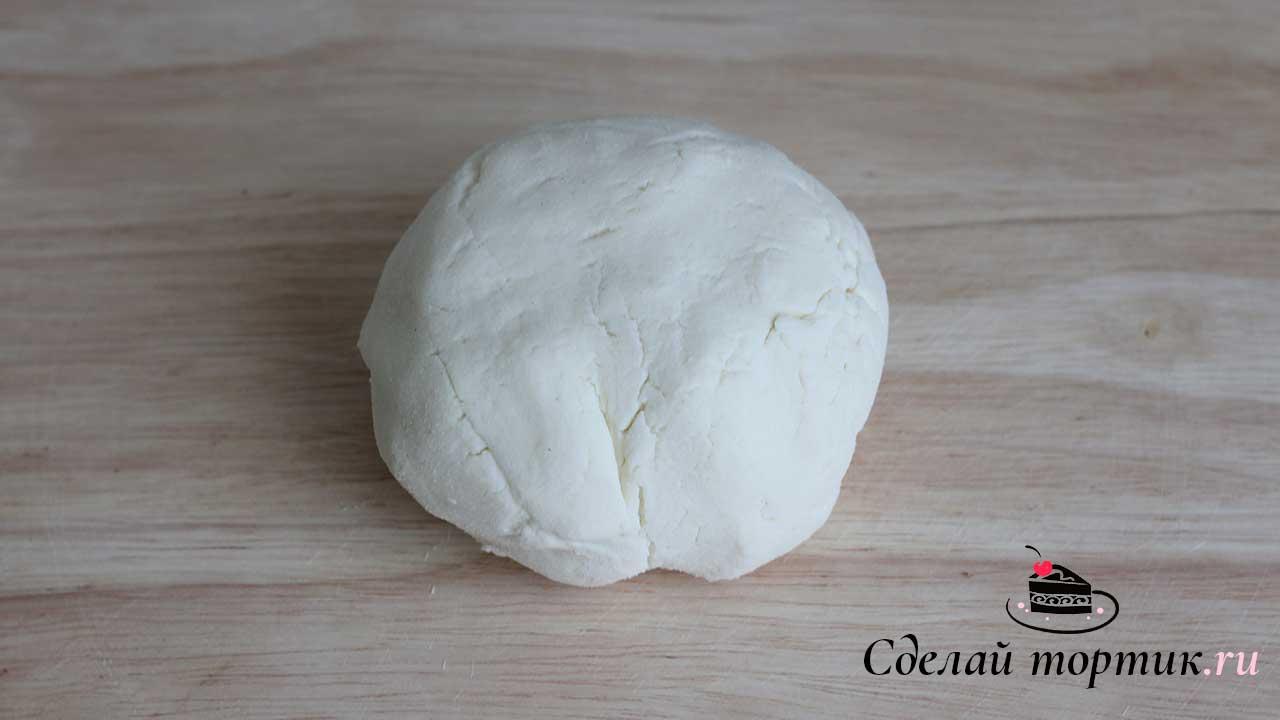 """Тесто для сырного печенья """"Диетического"""" готово."""