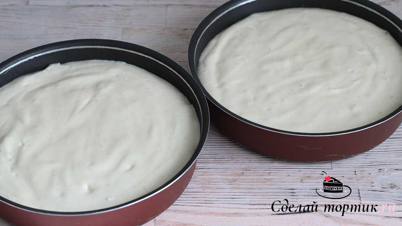 Бисквиты в форме, выпекаем 30 минут.