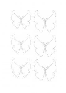 Шаблон для изготовления белых бабочек из вафли