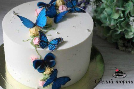 Делаем бабочки для декора торта