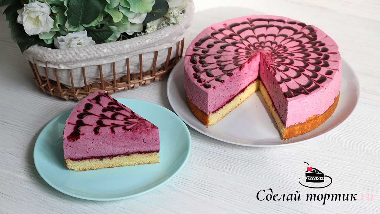 Муссовый торт из чёрной смородины