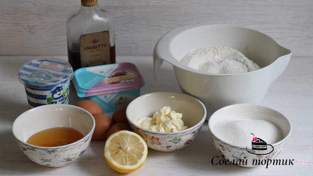 Ингредиенты для торта медовик с творожно-сметанным кремом