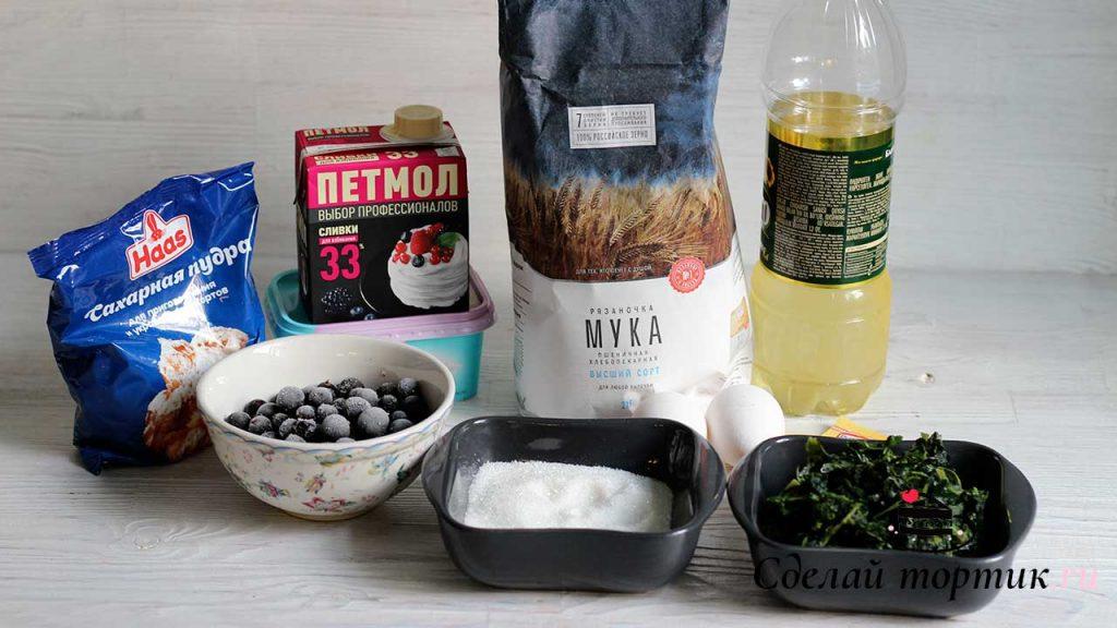Ингредиенты для шпинатных капкейков