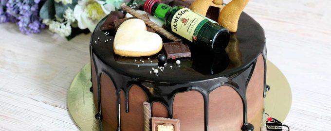 Шоколадная зеркальная глазурь на торте